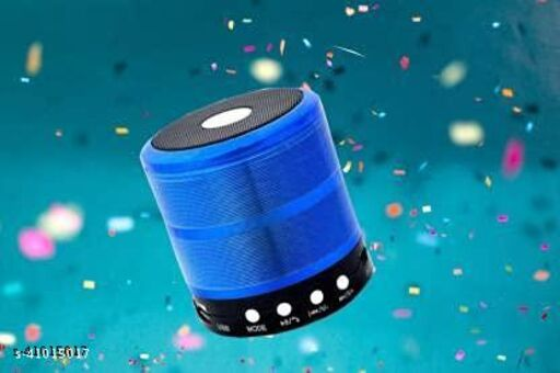 Mini Bluetooth Speaker with FM Radio, Memory Card Slot, USB Pen Drive Slot, AUX Input Mode (Random Colour)