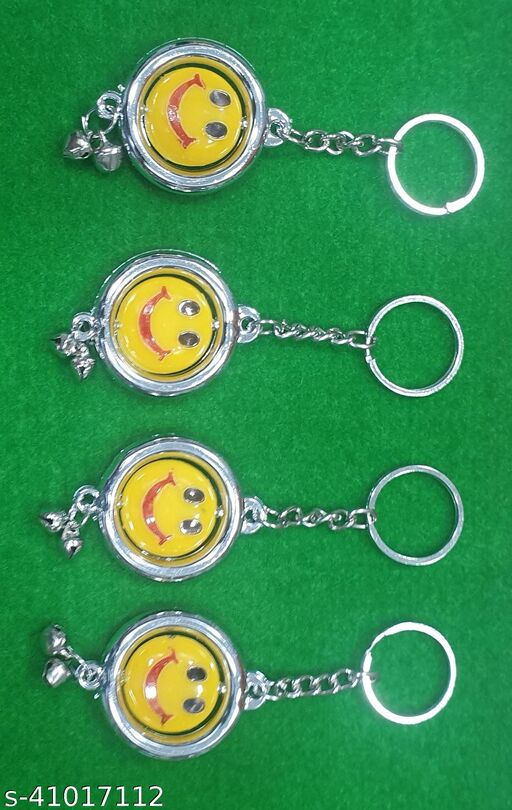 Smiley Keychains Set Of 4