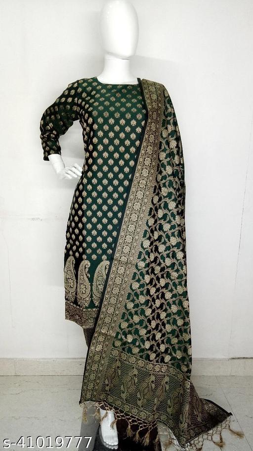 Kashmiri Resham Woven Banarasi Party Wear Suit