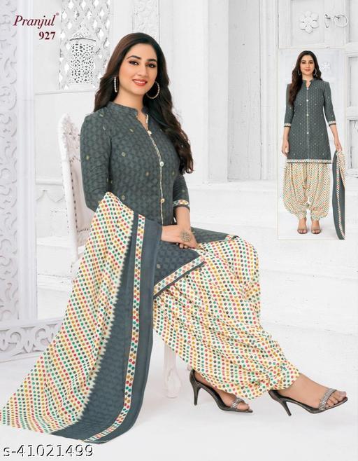 Pranjul Cotton Un-Stitched Suit