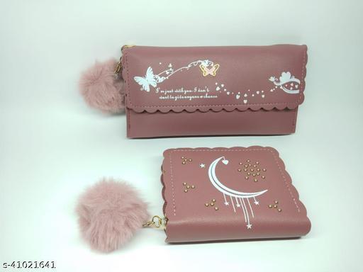 Women's Pu Leather Wallet combo