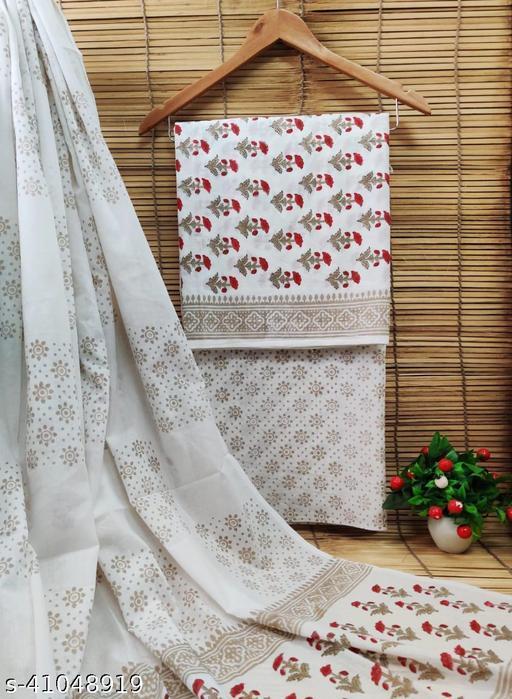 Hand Block Print Cotton Suits