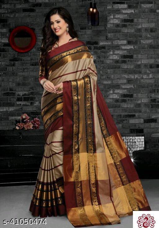 Fancy Cotton Silk Jacquard Saree