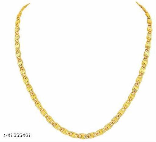 Jewar Mandi One Gram Gold Plated Brass Chain