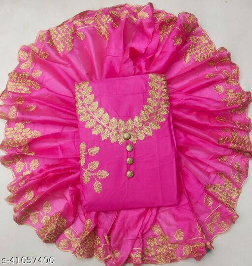 Exclusive EMBROIDERY Dress Material Suit  For Women