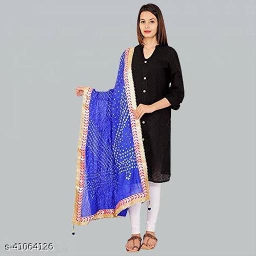Art Silk Bandhani Bandhej Party and Wedding Ethnic Dupatta 2.25 Meter