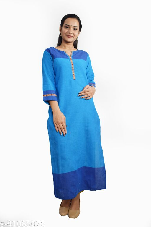 Sequin Crafts Women's Handloom Straight Kurti