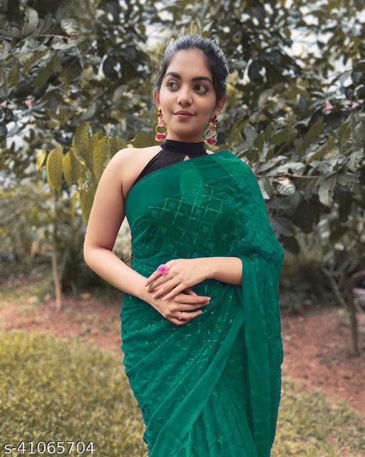 trendy sequence sari