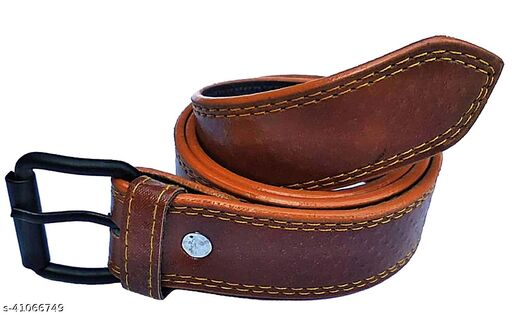 Forever99 Kids boy belt casual lethrite Tan Free Size upto 28 inch 10 year old kids(pack of 1)