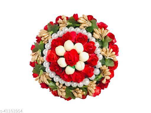 VinshBond Fancy Designed Juda Bun Maker,flower Fabric Gajra Pack -1