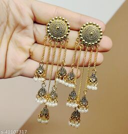 Latest Collection 5 Layer Latkan Jhumka earrings for Girls and Woman (Golden Color)