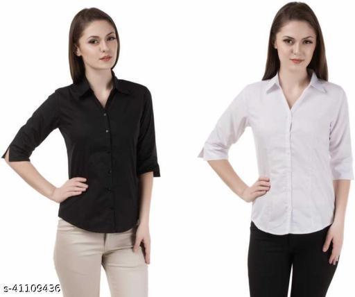 GENEALO Western Full Sleeve Cotton Check Shirt Combo (Pack Of 2)for Women's || Regular wear || Formal || Office wear