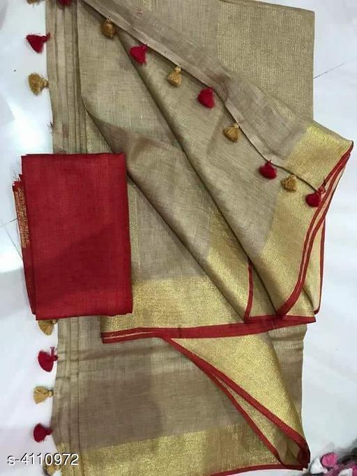 New Attractive Cotton Slub Women's Sarees