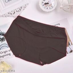 Women Seamless Cream Silk Panty