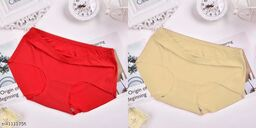 Women Seamless Multicolor Silk Panty (Pack of 2)