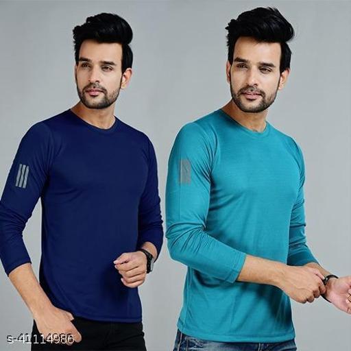 Chahal Full Sleeve Round Neck Sports Plain Tshirt for Mens