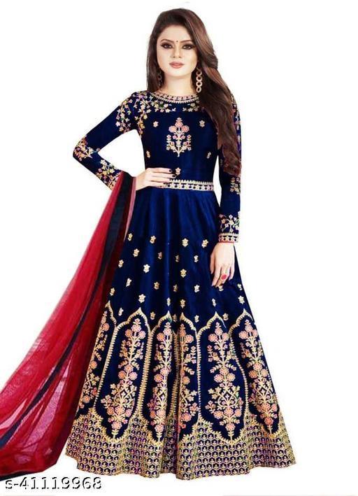 Amazing Anarkali  Gown  (Dark Blue)
