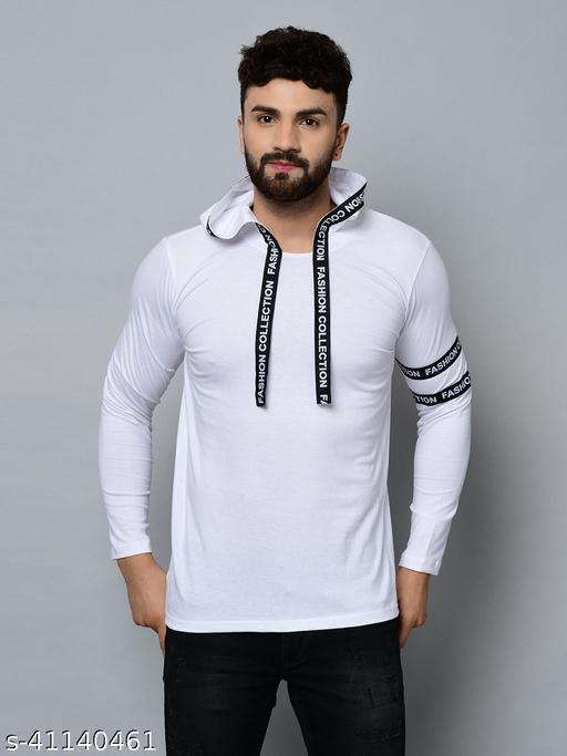 REE RAA Typography Hooded Tshirt for Mens