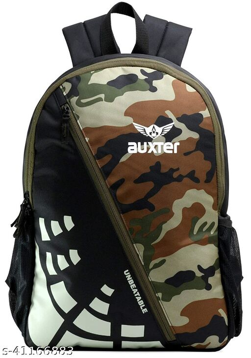Auxter Camofoulage Green 30 ltr Green School Bag Casual Backpack