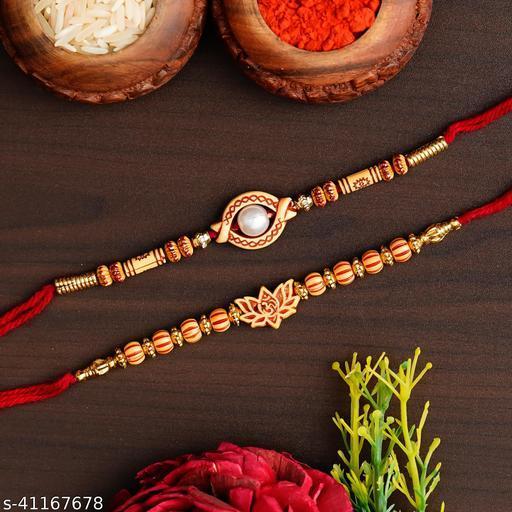 Ingo creation Stylish Amazing Bro, Bro# Rose Gold Color Rakhi For Brother Bhai (Set Of 2) With Roli Chawal and Greeting Card For Brother   Rakhi   Bhaiya Rakhi