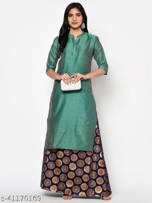 Women's Silk Cotton Long Kurti