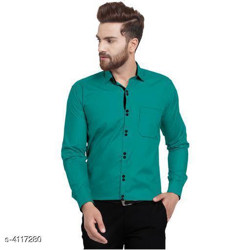 Olla Stylish Cotton Solid Men's Shirts