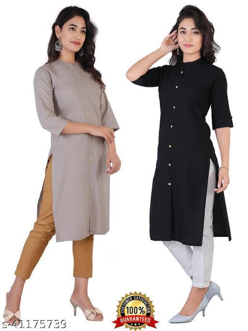 Beautiful solid cotton kurta for women's