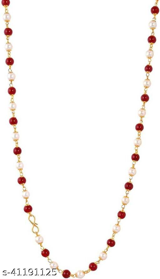 Chain for Women & Girls Pearl Gold-plated Plated Metal Chain ()