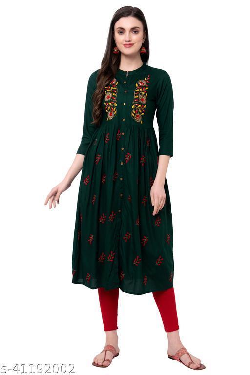 Womens embroidery long kurta