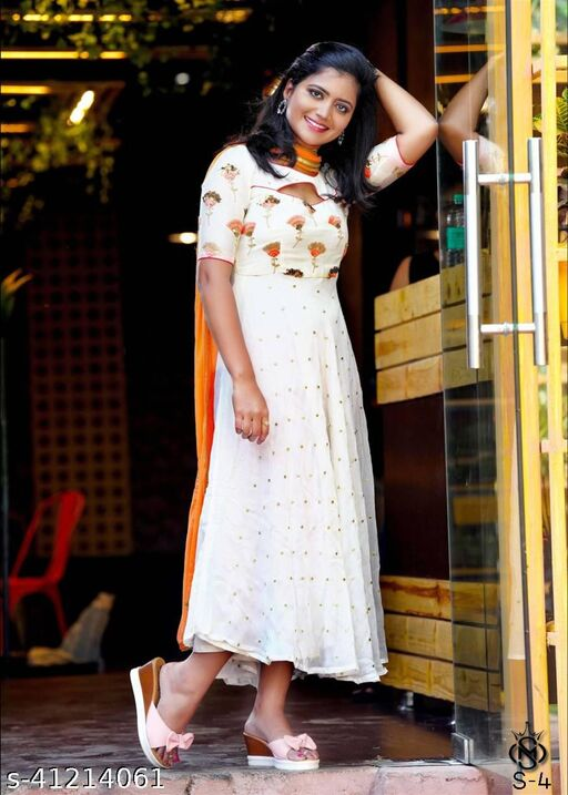 kashvi fabulous white coloured Impressive embroided women Gowns