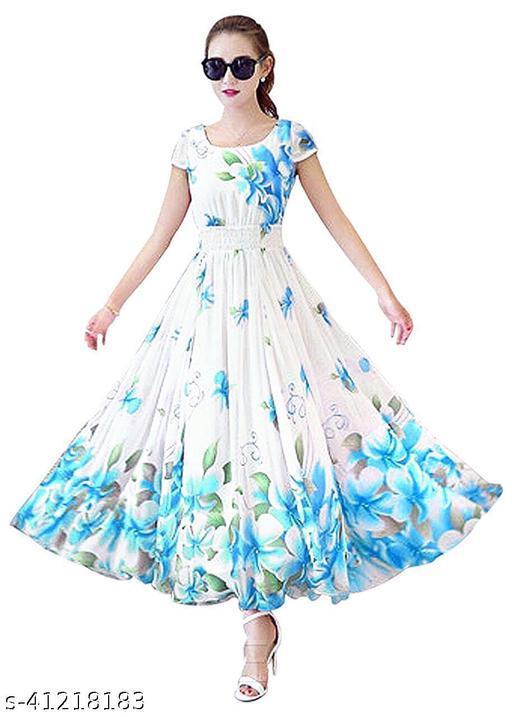 SARIKAFAB New Design Digital Print Gown