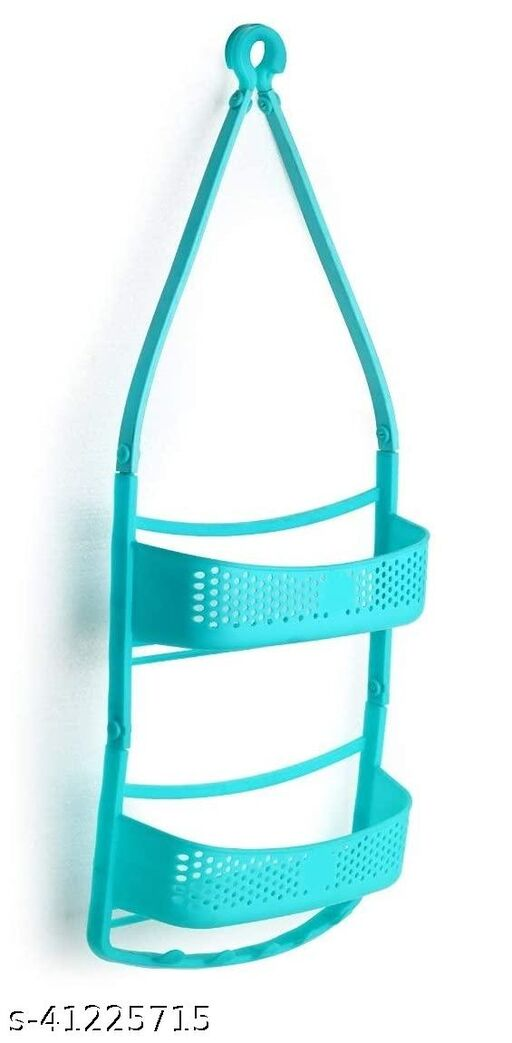 Solomon™ Premium Quality Shower Caddy Hanging with Adjustable Arms Portable Organizer Basket Storage for Shampoo Conditioner Soap Bathroom Accessories, ABS Plastic -Blue (Shower Caddy) (2 LAYER, Blue)
