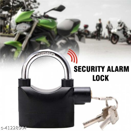 Anti-Theft Security Alarm Lock with 3 Keys & Motion Sensor (Set of 1) Black