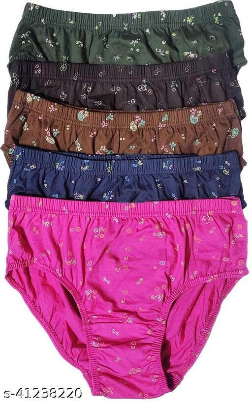 Women Hipster Multicolor Cotton Panty (Pack of 5)