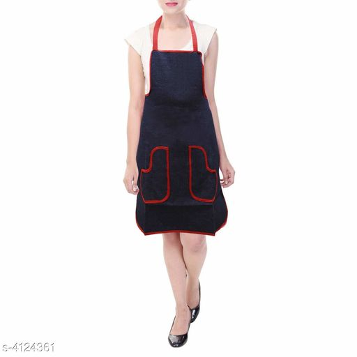NICASA Free Size Apron with 2 Front Pocket Set Of Two