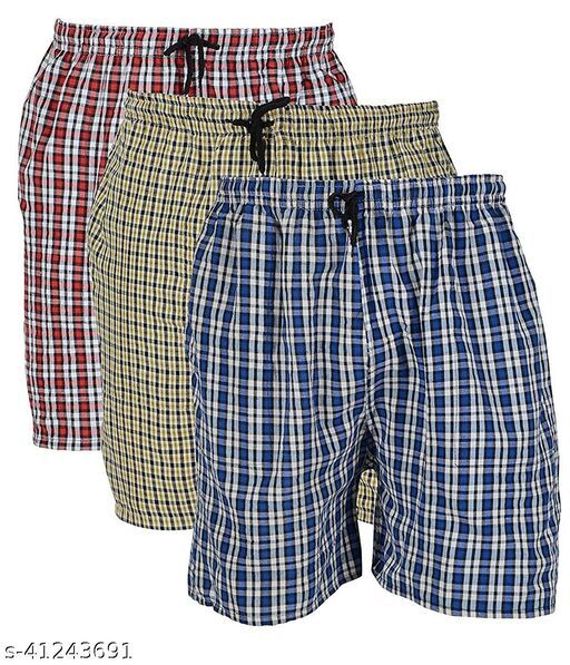 Men's Stylish Sports Shorts Boxer Running Cycling gym night Shorts Capri utmost comfort Color Blue Red Green Combo (pack of 3)