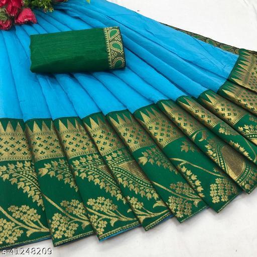 Febo Fashion Chanderi Cotton Jacquard Lace Saree With Jacquard Blouse