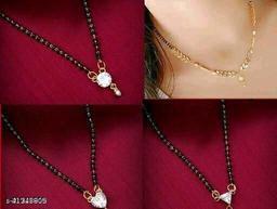 Allure Stylish American Diamond  Combo   Mangalsutra  For Women
