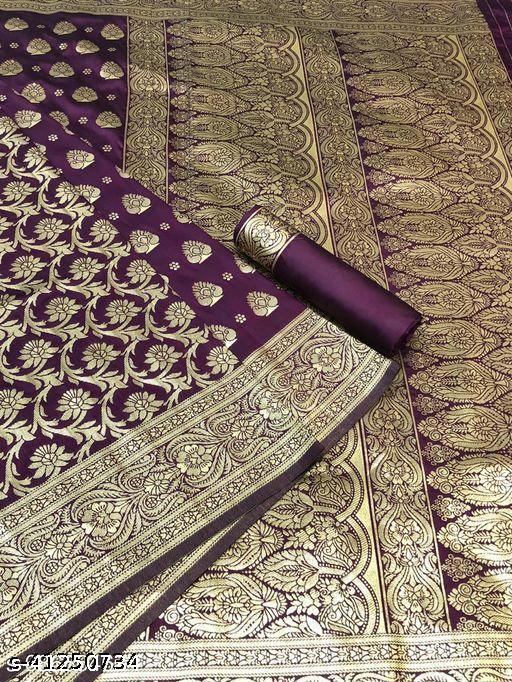 Purple Reach Banarasi Saree