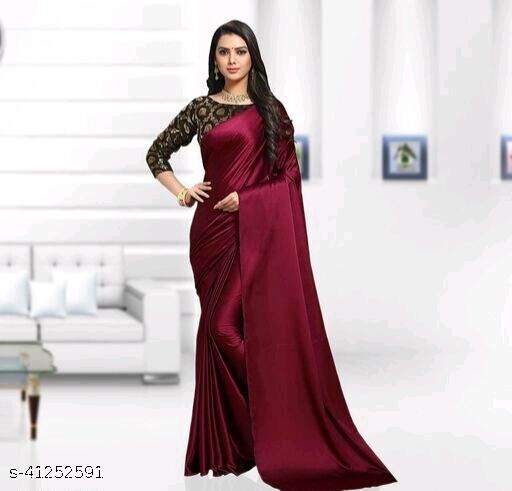 FOR YOU LOWEST PRICE SATIN SILK SAREE WITH JACQUARD BLOUSE