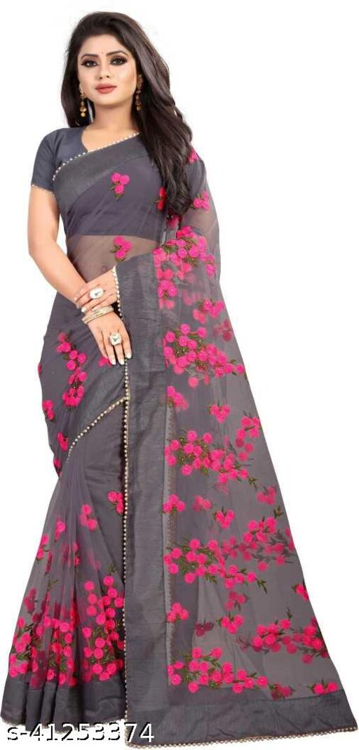 New Super Hit Bollywood Indian Festivel Stylish And Rich Look Net Saree