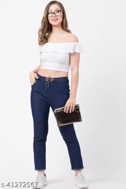 Flying Slim Fit Women Blue Jeans For Girls