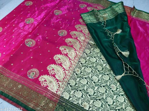 Banarasi Embroidery & Stone Work Party Wear Saree