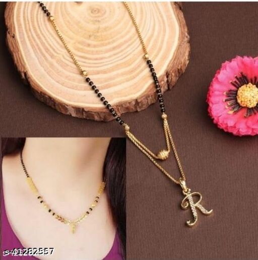 Alphabet Name Mangalsutra With free gift
