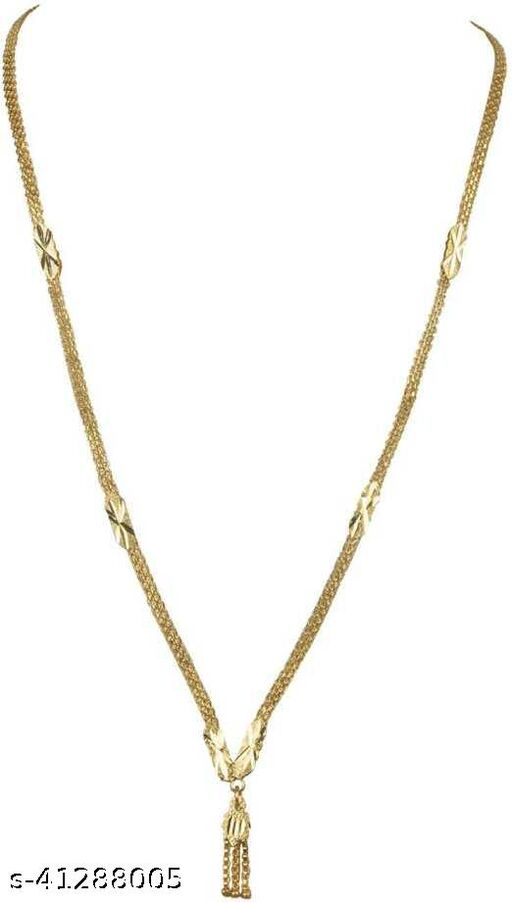 Exclusive Gold Plated Beautiful Daily wear Necklace Golden Chain for Women and Girls