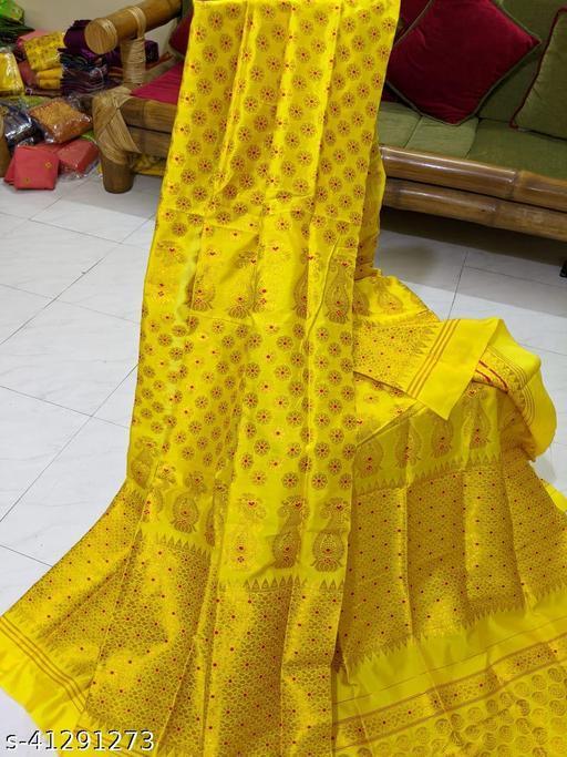 Assamese traditional Polypat Mekhla Chador Set