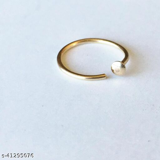 Nose Ring Hoop Adjustable C,Golden Brass Made Open Nose Hoop, Stud Jewelry, Nose Screw, Gold Nose Ring Hoop, Small Nose Ring, Tiny Nose Ring Clasp