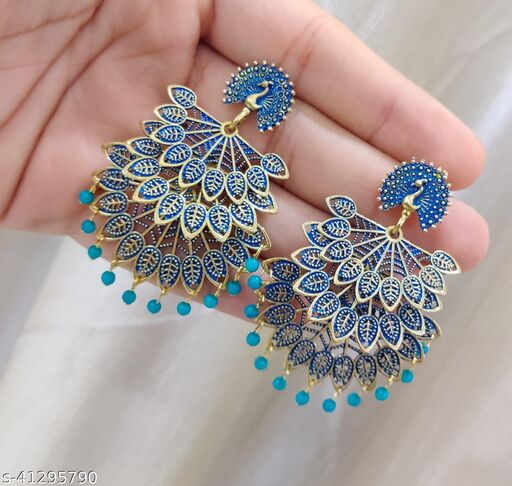 Latest Collection 3 Layer Morr earrings for Girls and Woman (Firozi Color)