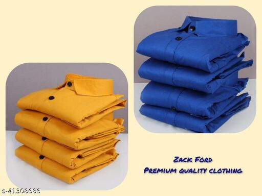 Zack Ford Men's Premium Cotton Casual Full Sleeve Combo Shirt(pack of 2)