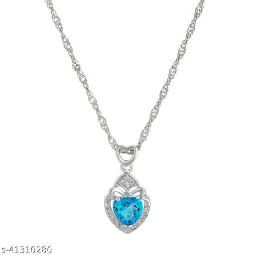 Pnkhi Exquisite Swiss Blue Topaz Necklace